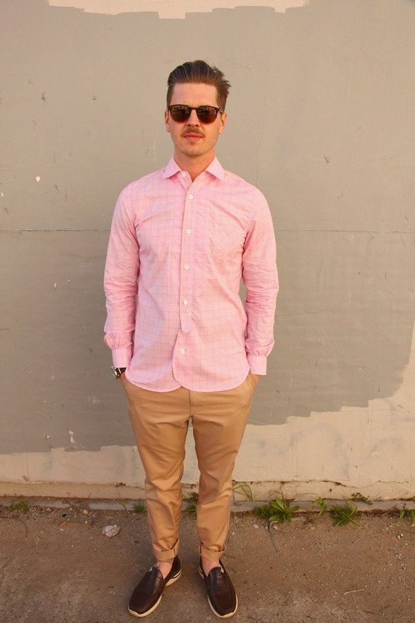 What pants should I wear with a pink shirt? - Quora