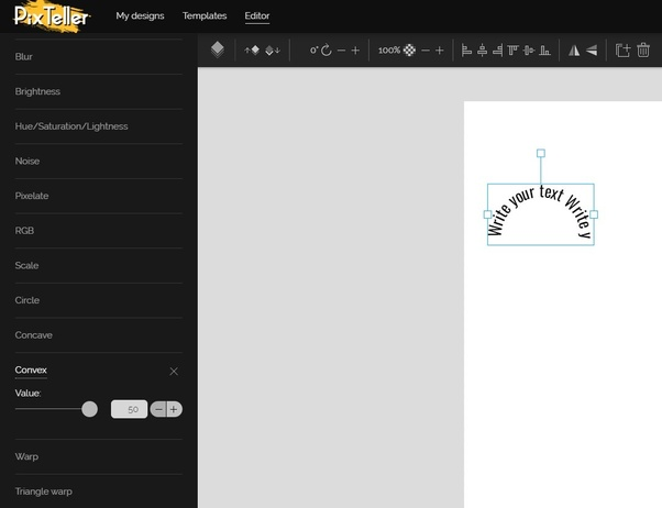Can we make a curved or circular text in Canva? - Quora
