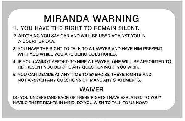 """miranda warnings are essential Missouri v seibert returned to give her miranda warnings they are likely to mislead and """"deprive a defendant of knowledge essential to his ability to."""