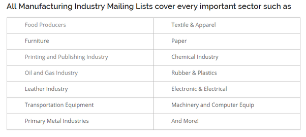 Who are the top manufacturing email list brokers from the USA? - Quora