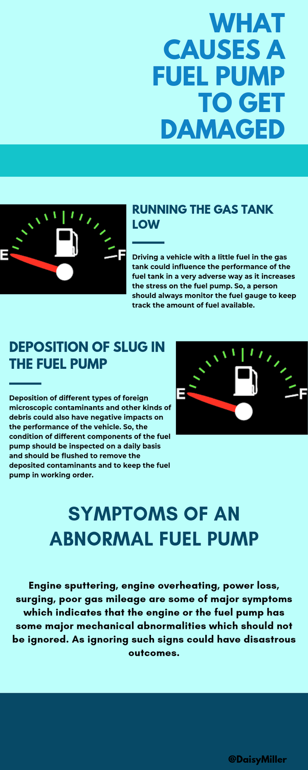 What causes a fuel pump to get damaged? - Quora