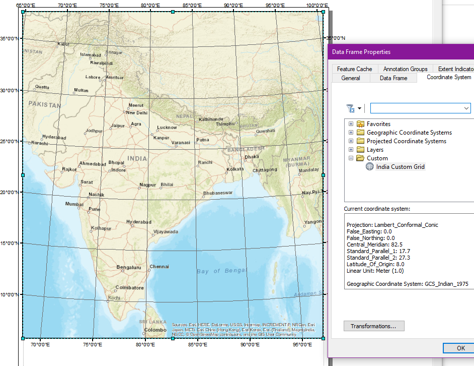 What is the Map Projection of Indian Subcontinent? - Quora