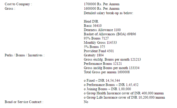 What is the salary offered by Infosys/TCS to NITs/IITs? At