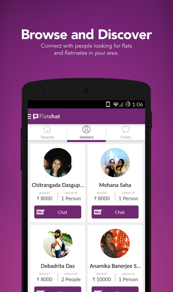 Flatchat Lets You Connect With Potential Flatmates, Prospective Owners And  Other Seekers REAL TIME. You Donu0027t Have To Worry About Not Getting A  Response Or ...