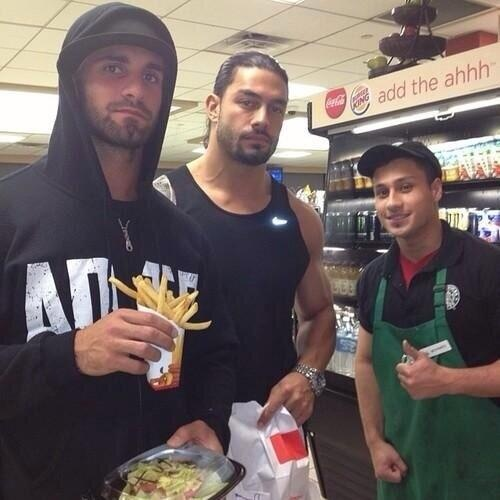 What is the relation between Roman Reigns and Seth Rollins