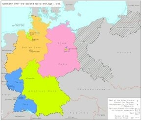 germany was partitioned into 6 parts if you count prussia
