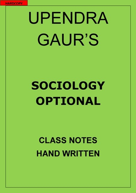 Ignou Sociology Notes Pdf
