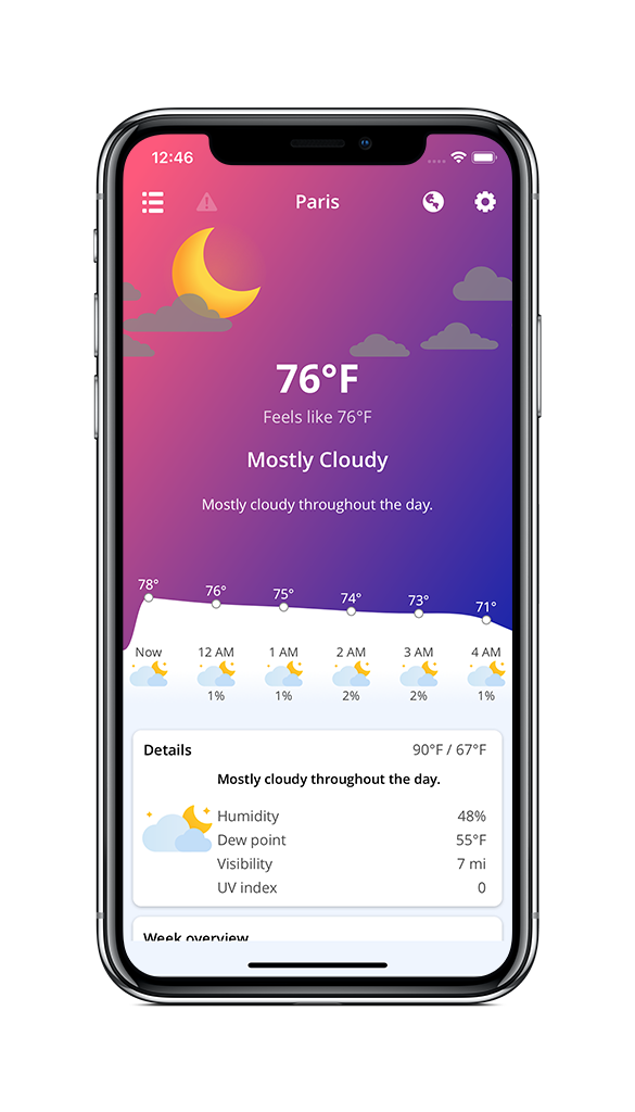 The App Is Free And Runs On IPhone IPad Apple Watch It Comes With A Refreshing Clean Design Thanks To DarkSkys Hyperlocal Data Source