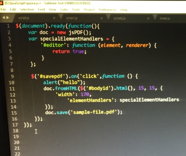 Html Script Pdf File