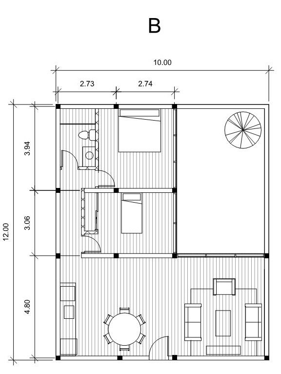 How many columns would be required for a 12m x 10m house? - Quora