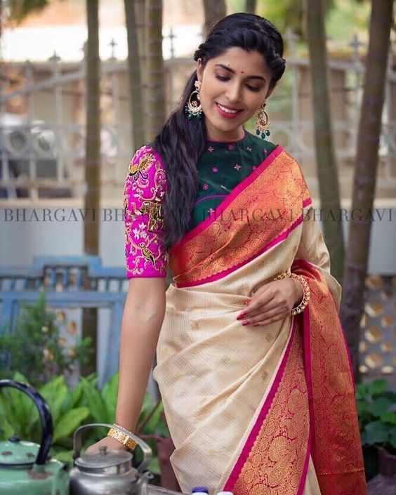 6d0ceb4632313 What are the latest silk saree blouse ideas  - Quora