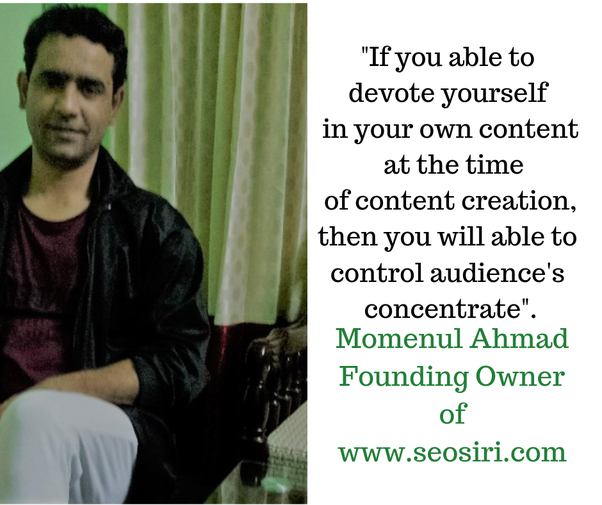 content marketing quote by seo consultant momenul ahmad