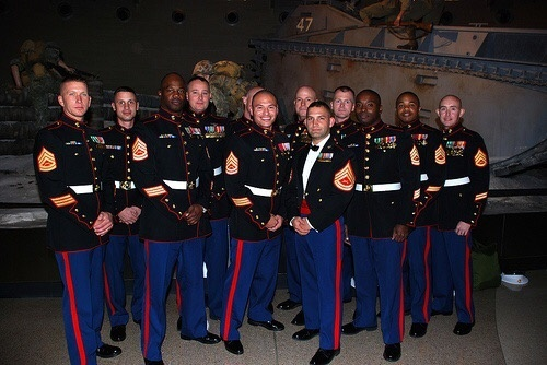 who has better dress uniforms enlisted marines or officer marines