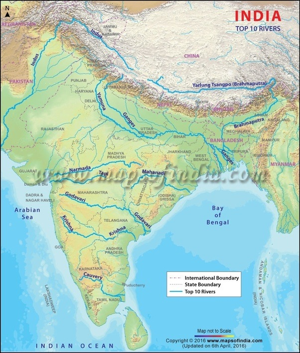 Which Is The Longest River In India Quora - Longest river in each continent
