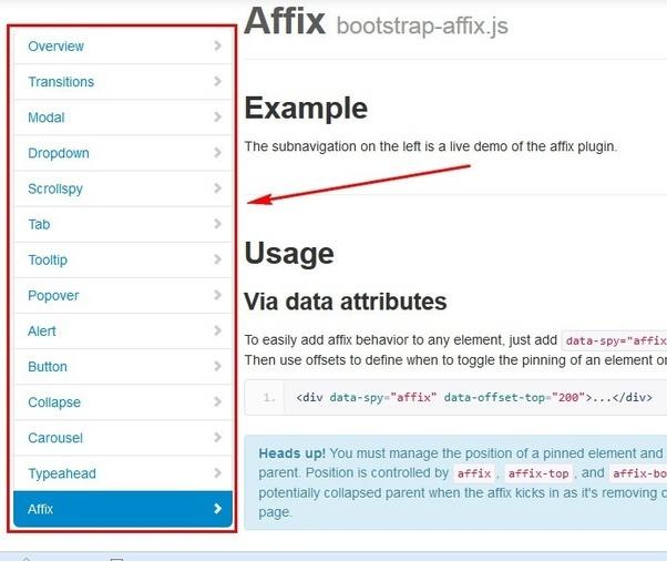 What Is Affix Plugin Quora