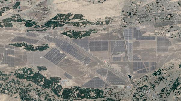 """Gansu Wuwei Solarfarm 38°06'05.1""""N 102°18'00.2""""E"""