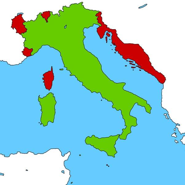 Dalmazia Italiana Cartina.Come Sarebbe L'italia Con Tutte Le Terre Irredente Quora