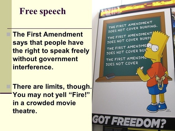 A discussion of whether flag burning is protected by the us first amendment