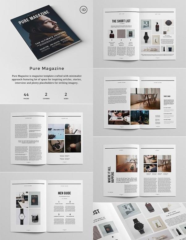 Magazines Designer: Magazine Design Standard Template?