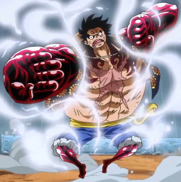 Luffy Gear 4 Tattoo: What Is The Red Around Luffy's Arms When He Uses G4?