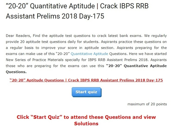 How to prepare for quantitative aptitude for bank exams - Quora