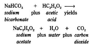 What are the products of the reaction between ethanoic acid and