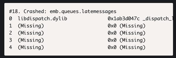Crashlytics Empty Stack Traces