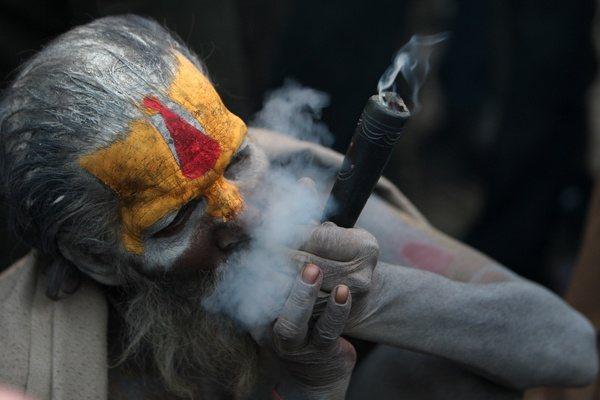 Smoking Marijuana by aghoris