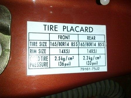 Tagre Placard. Top Tagre Placard With Tagre Placard. Fabulous Hilux Tire Pressure With Tagre ...