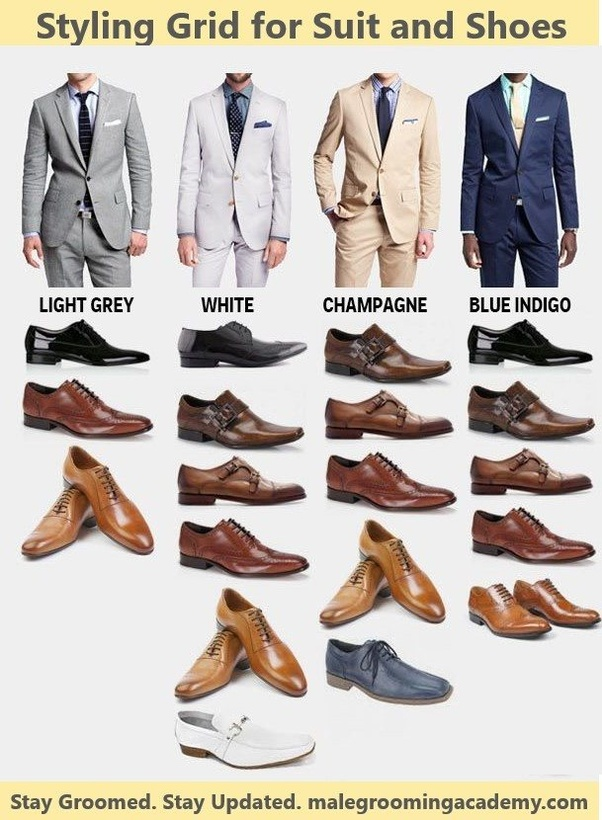 What Color Shoes Can I Wear With My Gray Suit Quora