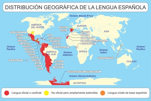 What countries other than spain speak spanish quora a map of the spanish speakers in the world gumiabroncs Images
