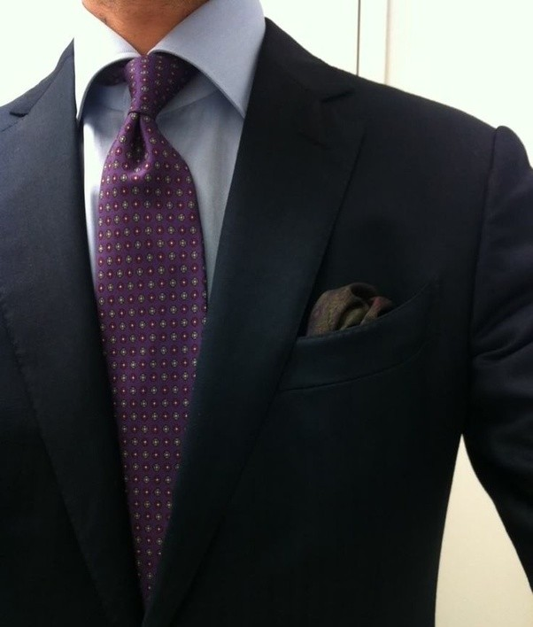 What colored tie would go with a navy blue suit and a for Shirt color navy suit