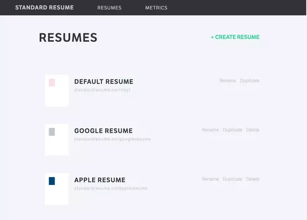 Standard Resume Also Allows You To Track When Each Of Your Resumes Have  Been Viewed Or Downloaded, Making It Very Easy To Know When To Follow Up.  Tailor Your Resume