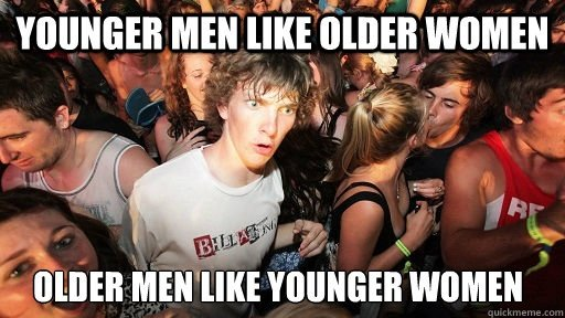 What do older men like in women