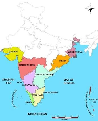 Which Indian state has the smallest coastline? - Quora