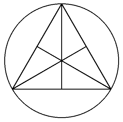 An Equilateral Triangle Is Inscribed In A Circle If The Radius Of