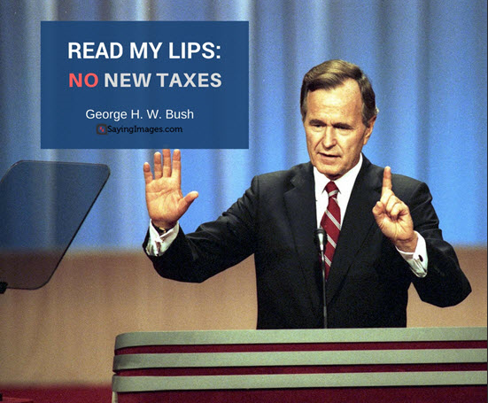 Image result for george bush no new taxes