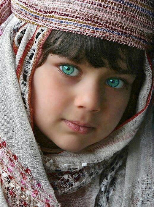 There's woman with beautiful eyes