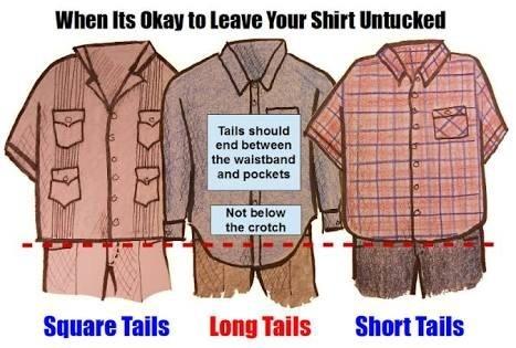 Long tail dress shirts