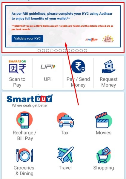 What is the procedure to complete KYC for the HDFC PayZapp