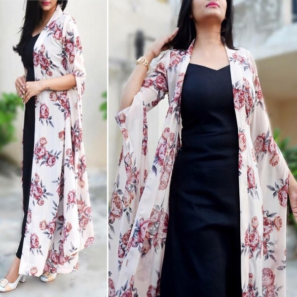 23f25aa5ef8 Off White Georgette Printed Floral Shrug. So what are you waiting for
