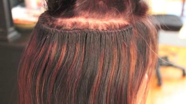 What are the different types of hairpiece and hair extension sew in hair extensions also called the weave hair extensions are performed by braiding the natural hair into a crown shaped solutioingenieria Image collections