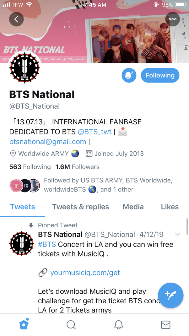 What are the names of the Twitter accounts of BTS? - Quora