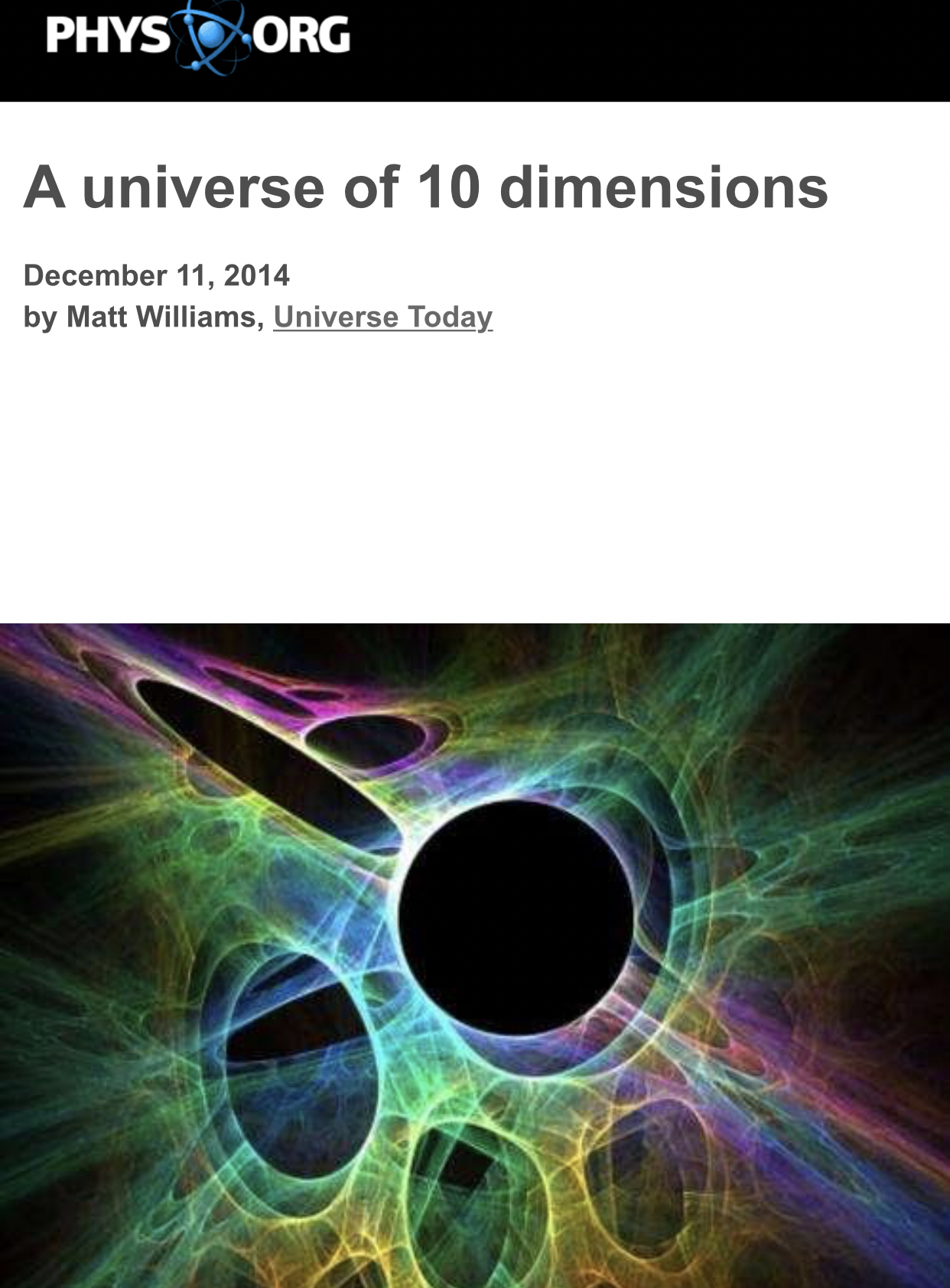 what are the 11 dimensions of the universe and give perfect