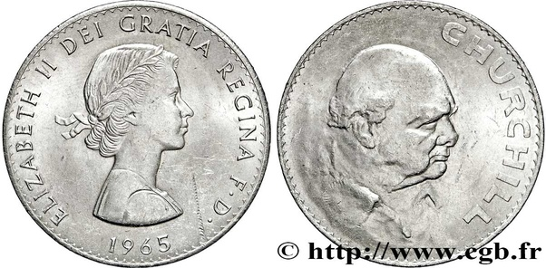 How much is a 1965 Winston Churchill coin worth? - Quora