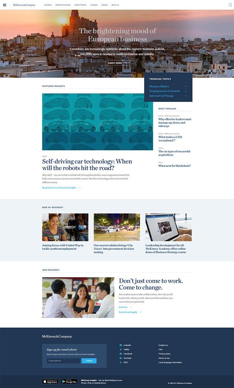 Which firm designed mckinsey com? - Quora