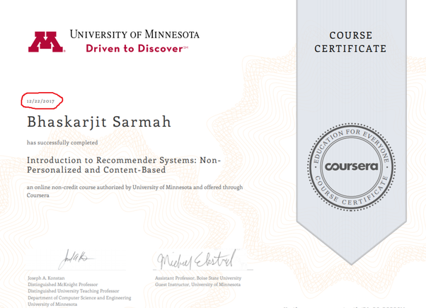 Do Coursera certificates no longer have 'with distinction