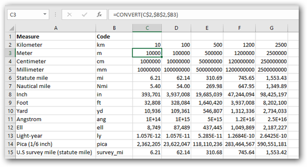 How to convert kilometers to miles in Excel - Quora