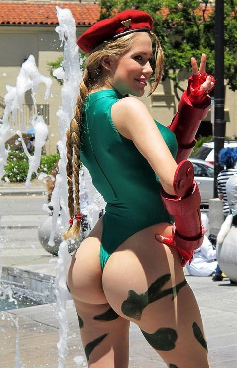 Almost naked cosplay girls