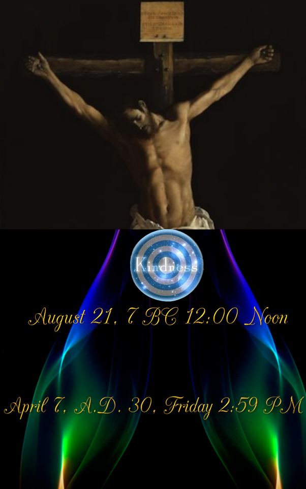 A○ Jesus Was Born August 21, 7BC And Died On The Cross On Friday Afternoon,  Just Before Three Ou0027clock April 7, A.D. 30.